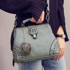BOLIYASHI - Faux-Leather Studded Satchel