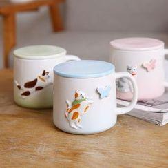 Class 302 - Cat Ceramic Cup