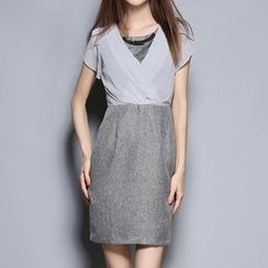 Merald - Short-Sleeve Sheath Dress