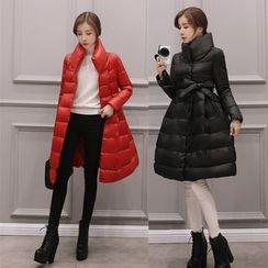 Sienne - Stand Collar A-Line Down Coat