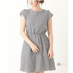Pluvio - Gingham Cap Sleeve Dress
