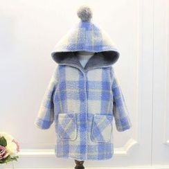 Rakkaus - Kids Plaid Hooded Coat