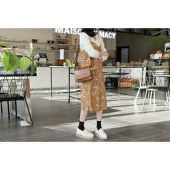 UPTOWNHOLIC - Spaghetti-Strap Flora Print Dress