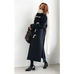 Someday, if - Hooded Wool Blend Long Duffle Coat