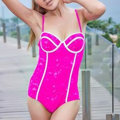 Zeta Swimwear - Contrast Colour Swim Dress
