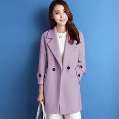 GETU - Wool Blend Buttoned Coat