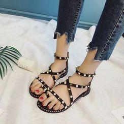 Wello - Studded Loop Toe Sandals