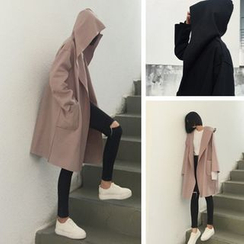 Alfie - Loose-Fit Long Hooded Coat