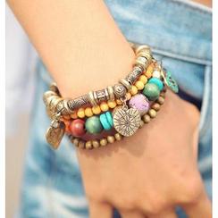 REDOPIN - Beads & Wooden Ball Bracelets