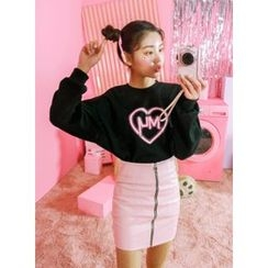 icecream12 - Heart Printed Pullover