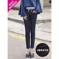 BBAEBBAE - Drawstring-Waist Skinny Jeans