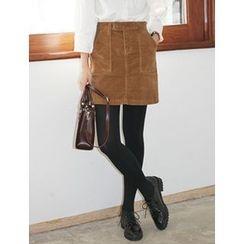 FROMBEGINNING - Corduroy Mini Skirt