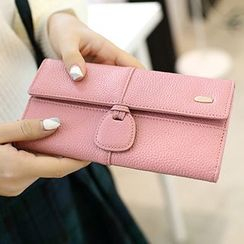 SUOAI - Faux Leather Long Wallet