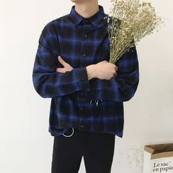 JUN.LEE - Plaid Long-Sleeve Shirt