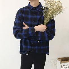 子俊 - 格紋長袖襯衫