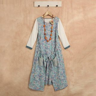 Blue Hat - Sleeveless Floral Dress
