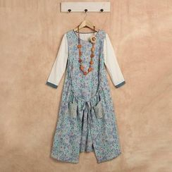 Blue Hat - Sleeveless Floral Dress