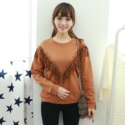 Dodostyle - Stud Fringed Pullover