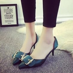 Chryse - Buckle Pointy Pumps