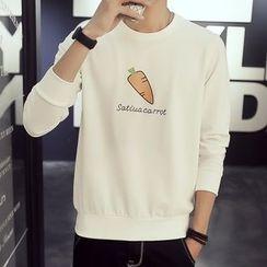 Besto - Carrot Print Sweatshirt