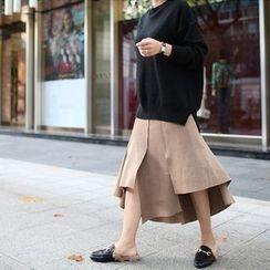 STYLEBYYAM - Asymmetric-Hem A-Line Skirt