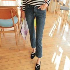 Cherryville - Slit-Hem Boot-Cut Jeans