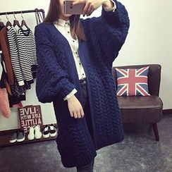 Asally - Bell Sleeve Long Cardigan