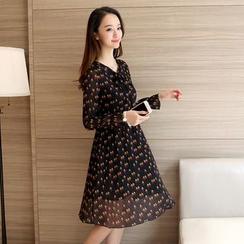 Fancy Show - Printed Chiffon Dress