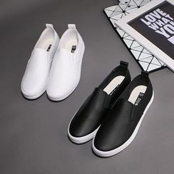 Klesky - Faux Leather Slip-Ons