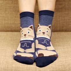 Milena - Cat Print Socks