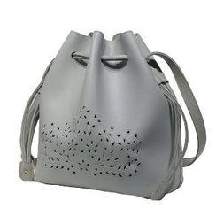 Axixi - Cutout Drawstring Bucket Bag