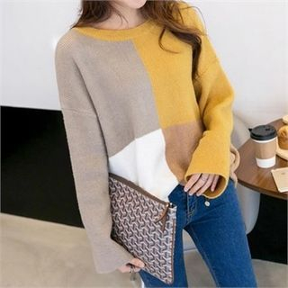 PIPPIN - Color-Block Knit Top