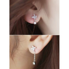 kitsch island - Rhinestone Drop Earrings