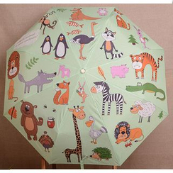 Easily - Animal Print Automatic Compact Umbrella