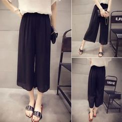 QZ Lady - Cropped Wide Leg Pants