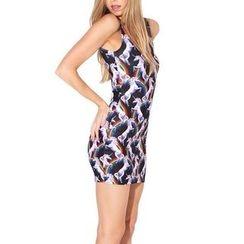 Omifa - Sleeveless Printed Dress