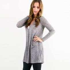 HOTCAKE - V-Neck Long Cardigan