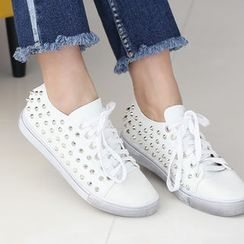 DANI LOVE - Studded Stained Sneakers