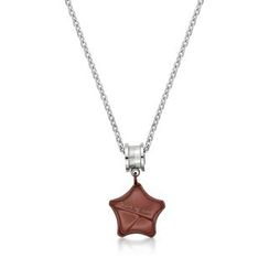 Kenny & co. - Share Of Love Ip Brown Star Charm With Roll Steel Necklace