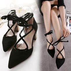 Monde - Lace Up Pumps