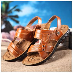 Fortuna - Genuine-Leather Open-Toe Sandals