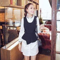 Ozawa - Set: Asymmetrical Vest+ Shirtdress