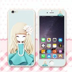 Kindtoy - iPhone 6 / 6 Plus 女孩印花保护膜 ( 前后)