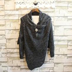 Sundipy - Melange Knit Cardigan