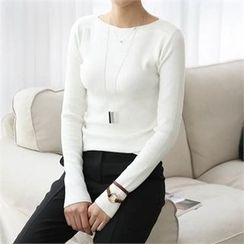 CHICFOX - Plain Knit Top