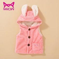 MiiOW - Kids Rabbit Ear Hooded Vest