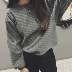 Rocho - 羅紋蝙蝠袖太空棉衛衣