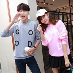 TOOI - Couple Matching Lettering Pullover