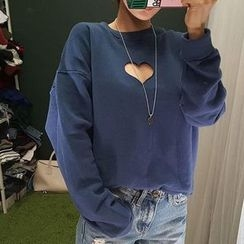 Tulander - Heart Cut Out Pullover