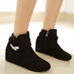 Gizmal Boots - Hidden Wedge Ankle Boots